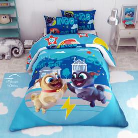 Lenjerie de pat copii Bingo si Rolly
