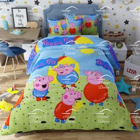 Lenjerie de pat copii Peppa Pig