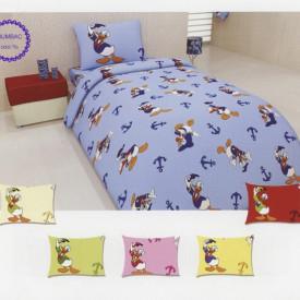Lenjerie de pat copii Donald Duck fundal albastru