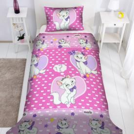 Lenjerie de pat copii Love Marie fundal roz ( stoc limitat )