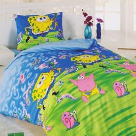 Lenjerie de pat copii Spongebob ( stoc limitat )