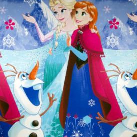 Bumbac ranforce imprimat pentru copii model Princesses sister rola 30m/240cm