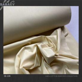 Bumbac ranforce imprimat UNI BEIGE LIGHT rola 30m/240cm