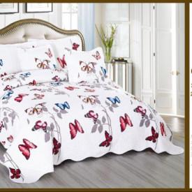 Cuvertura de pat East Confort matlasata din bumbac brodat