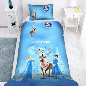 Lenjerie de pat copii Frozen Adventure ( stoc limitat )