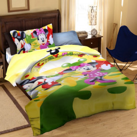 Lenjerie de pat copii Mikey & Minnie