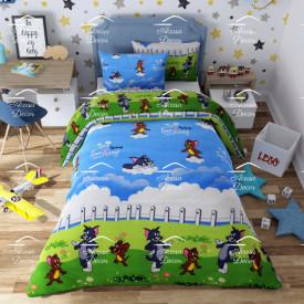 Lenjerie de pat copii Tom & Jerry bumbac 100%