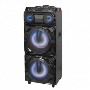 Boxă portabilă cu Bluetooth, Trevi XF3800, 300 W, Lumini led disco, microfon dinamic, Karaoke, acumulator