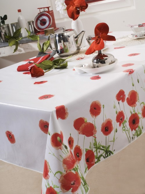 Poze Fata de masa rectangulara Red Poppy Rouge