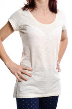 Tricou alb cu decolteu rotund