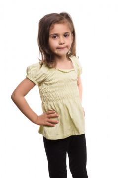 Tricou verde cu banda elastica