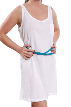 Rochie alba din bumbac