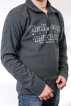 Tricou polar gri inchis cu imprimeu text