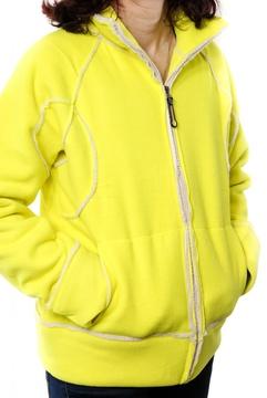 Jacheta galben aprins cu fermoar