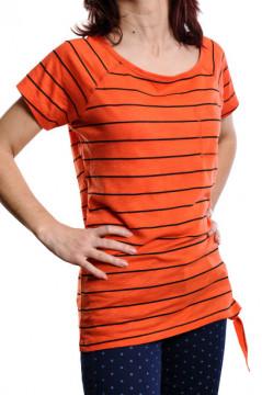 Tricou in dungi portocaliu cu negru