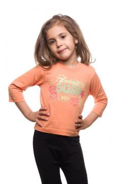 Tricou portocaliu cu imprimeu text