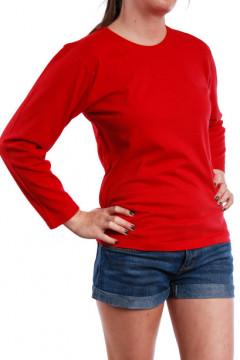 Tricou rosu cu maneca lunga
