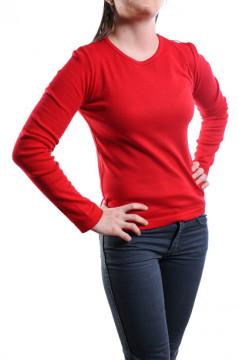 Bluza rosie din bumbac