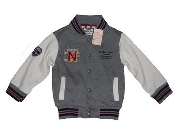 Jacheta gri cu capse pentru baieti