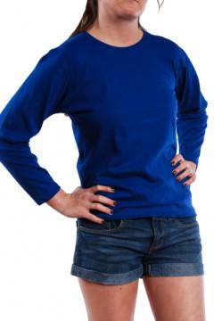 Tricou albastru cu maneca lunga
