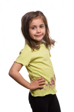 Tricou verde cu imprimeu floral