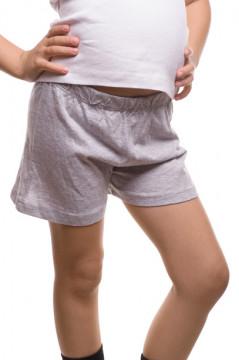 Pantaloni scurti gri