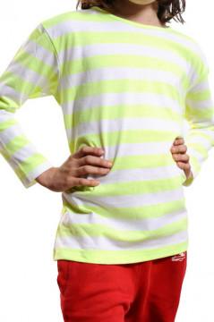 Tricou in dungi verde cu alb