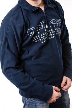 Tricou polar bleumarin cu imprimeu text