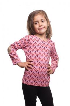 Tricou roz cu imprimeu ciuperci