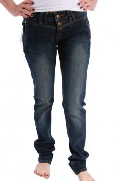 Jeansi bleumarin cu aspect uzat