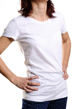 Tricou din bumbac alb