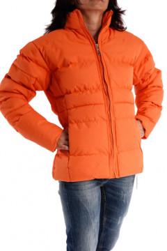 Jacheta portocalie cu fermoar