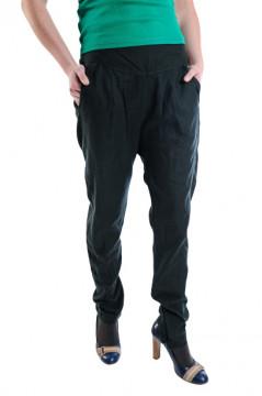 Pantaloni verzi cu pense