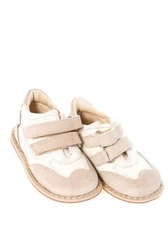 Pantofi din piele si panza