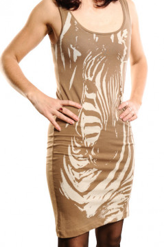 Rochie maro cu imprimeu zebra