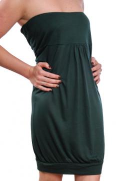 Rochie verde fara bretele