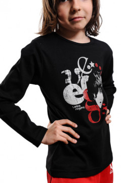Tricou negru cu imprimeu