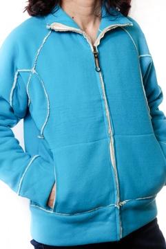 Jacheta albastra cu blanita