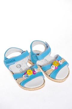 Sandale albastre cu detalii decorative