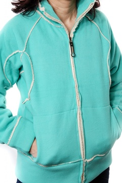 Jacheta verde cu blanita