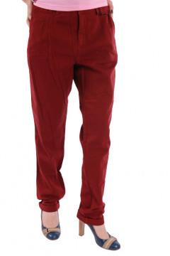 Pantalon caramiziu din bumbac