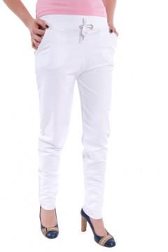 Pantaloni albi cu buzunare