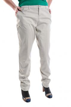 Pantaloni bej cu buzunare
