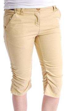 Pantaloni galbeni 3/4 din bumbac