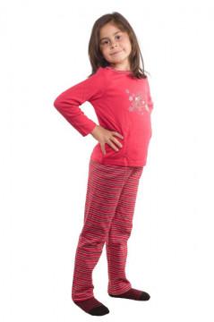 Pijama rosie cu imprimeu