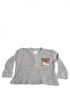 Tricou gri cu buzunare si nasturi pentru baieti