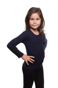 Tricou negru cu maneca lunga