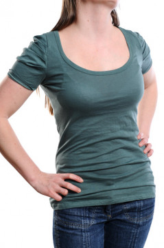 Tricou verde din bumbac