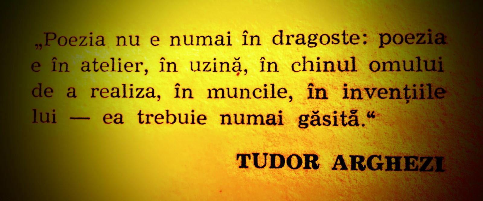Incursiune în opera lui Tudor Arghezi...