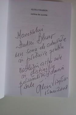 Alexa Visarion - Cortina de cuvinte (cu autograf)